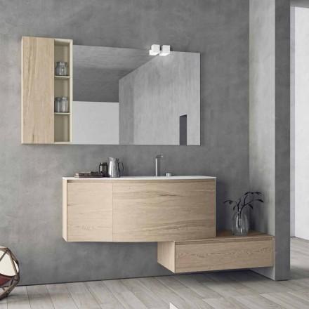 Composition suspendue et moderne pour la salle de bain, design Made in Italy - Callisi4