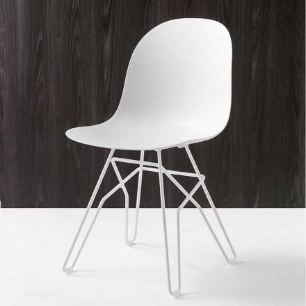 Connubia Calligaris Academy chaise moderne faite en Italie, 2 pièces