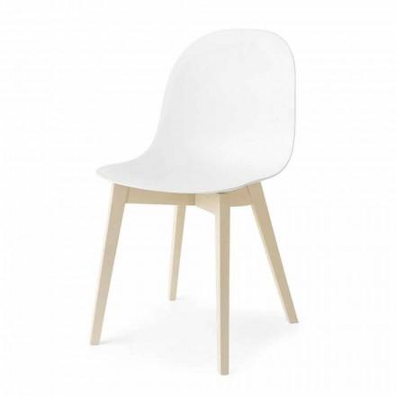 Connubia Calligaris Academy chaise moderne en bois massif, 2 pièces