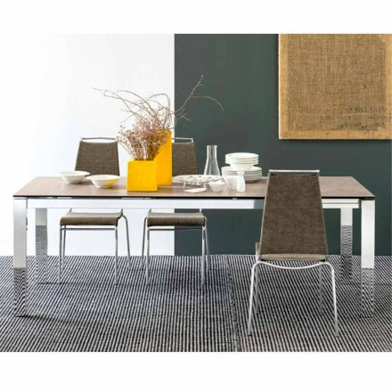 Connubia Calligaris Baron table extensible en céramique/verre,L130/190