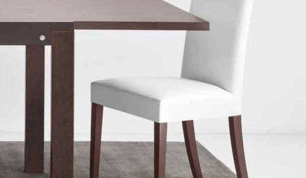 Connubia Calligaris Copenhagen chaise en faux cuir et bois, 2 pièces