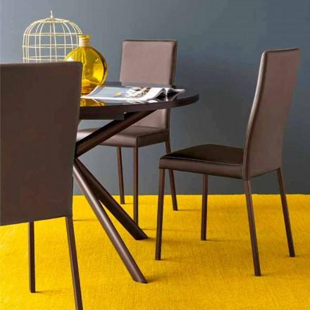 Connubia Calligaris Garda chaise moderne en tissu et métal, 2 pièces