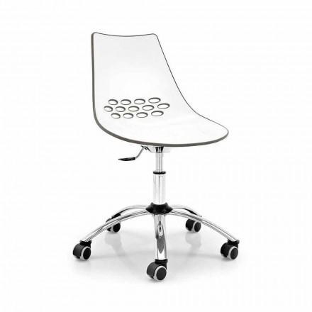 Connubia Calligaris Jam chaise de bureau moderne pivotante, 2 pièces