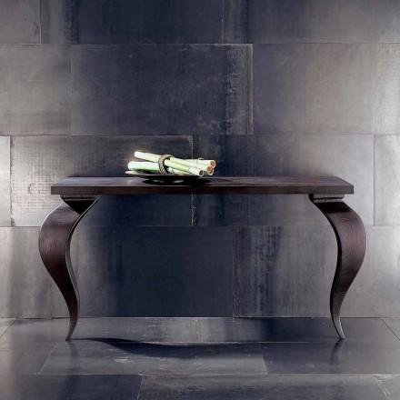 Console design moderne luxe en bois massif, L150xP150cm, Tino