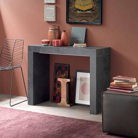 Console de table extensible jusqu'à 290 cm avec plateau en bois Made in Italy - Seregno