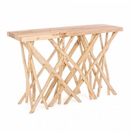 Console d'entrée en bois de teck naturel au design moderne et élégant - Bilva