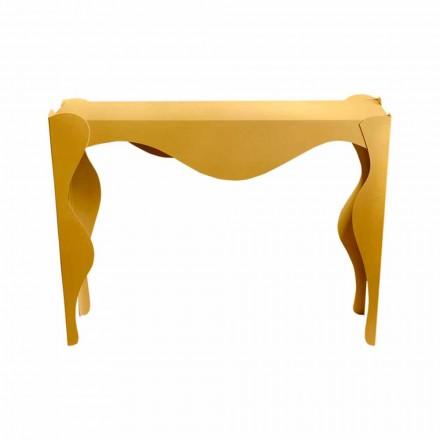 Console de salon design moderne en fer coloré fabriqué en Italie - Gertrude