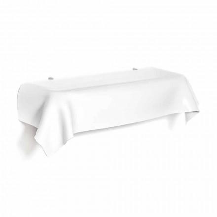 Console de design moderne en plexiglas blanc drapé Wish