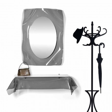 Console de design moderne en plexiglas fumé transparent drapé Wish