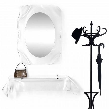 Console de design moderne en plexiglas transparent drapé wish