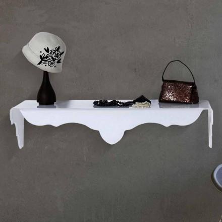 Console fixée au mur blanche de design Bianca, faite en Italie