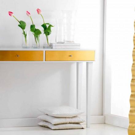 Table de console fixe en bois avec tiroirs Beel design moderne.