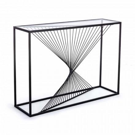 Console en acier et verre design moderne spirale originale - Sasuke