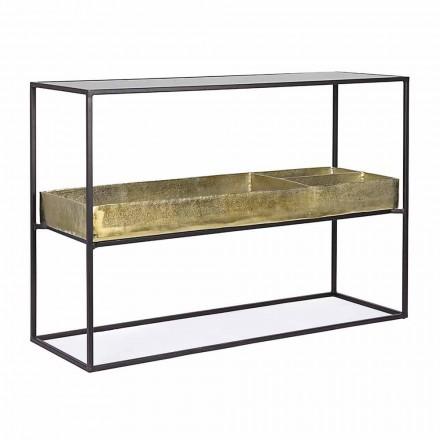 Console design moderne et élégante en acier et verre Homemotion - Malpensa