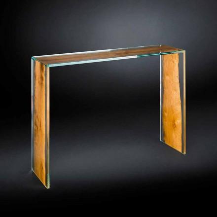 Table console en bois de Briccola en verre de design Venezia