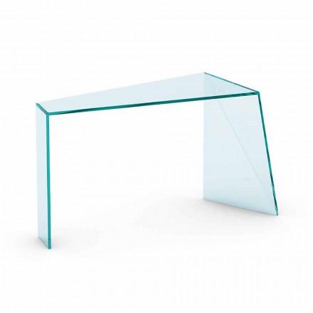 Consolle d'entrée moderne en verre extraclair fabriqué en Italie - Rosalia