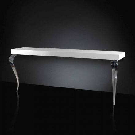 Table console de style classique en MDF et acier Luigi