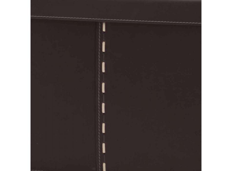 Boîte de rangement moderne en cuir régénéré fabriqué en Italie - Gabry
