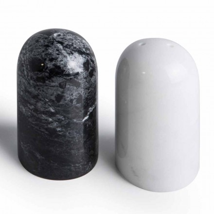 Récipients à sel et à poivre en marbre de Carrare et Marquinia fabriqués en Italie - Xino