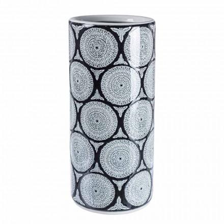 Paire de porte-parapluies modernes en porcelaine avec décorations Homemotion - Jimbo