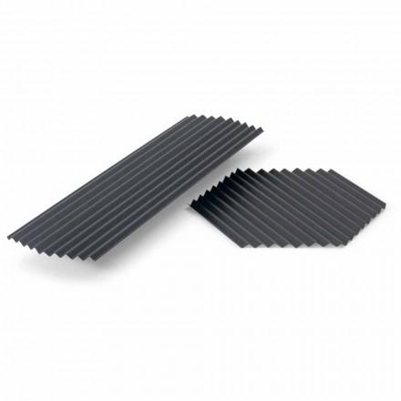 Paire de plateaux en acier laqué noir ou or design moderne - Savona