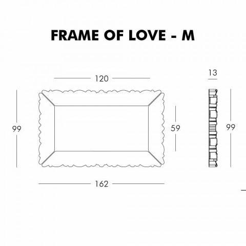 Cadre mural décoratif Slide Frame Of Love fabriqué en Italie