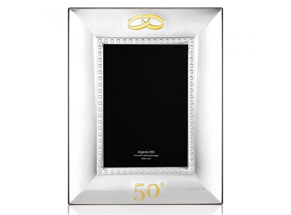 Cadre photo de luxe en argent pour anniversaire 25 ou 50 ans - Sallustio