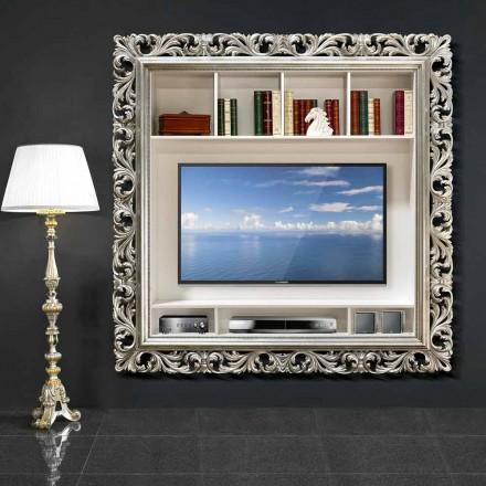 Cadre mural TV fait à la main en bois, produit à 100% en Italie, Mario