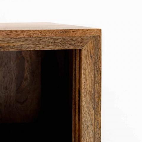 Buffet avec deux portes coulissantes design en bois de manguier, Cepagatti