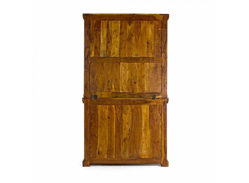 Buffet haut de style classique avec structure en bois d'acacia massif - Umami