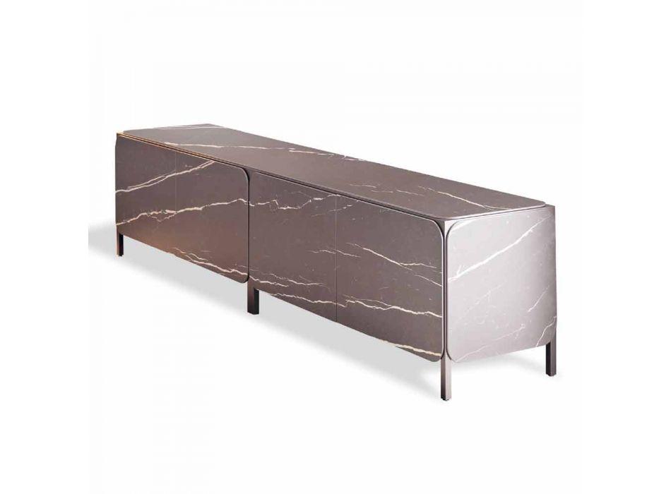Buffet bas en céramique et métal Made in Italy - Buffet Bonaldo Frame K