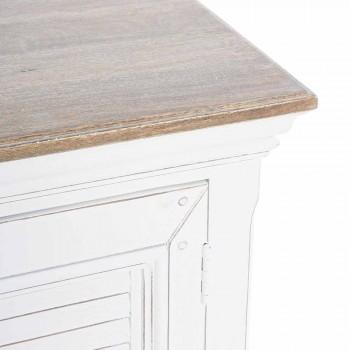 Buffet avec structure en bois de manguier blanc Design classique - Baffy