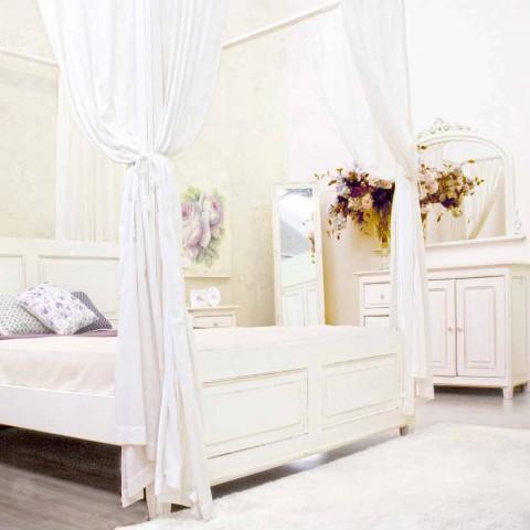 Buffet en manguier massif peint en blanc de style rustique - Renga