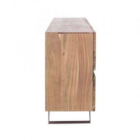 Buffet en bois et acier peint Design moderne Homemotion - Silvia