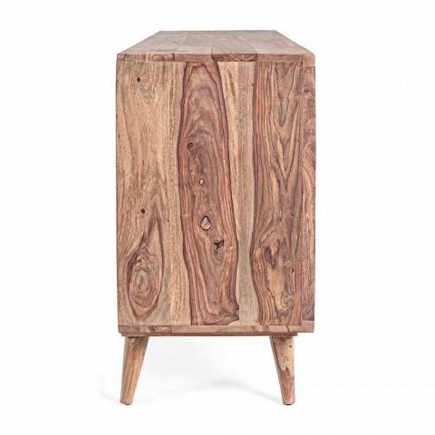 Buffet en bois au fini naturel avec portes et tiroirs Homemotion - Ventador