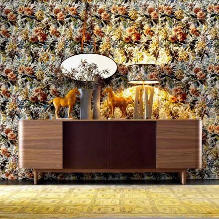 Grilli York 4 Buffet en placage de bois fabriqué en Italie