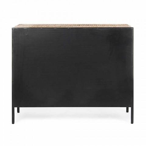 Buffet moderne avec structure en acier peint et bois Homemotion - Borino