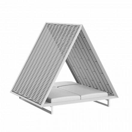 Méridienne de jardin de luxe en aluminium et tissu - Frame Vineyard par Vondom