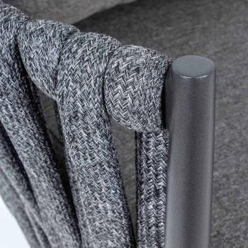 Bain de soleil en aluminium, fibre synthétique et tissu Homemotion - Lucio