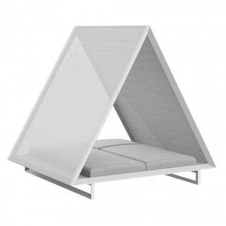 Méridienne d'extérieur en aluminium et tissu design de luxe - Frame Vineyard par Vondom