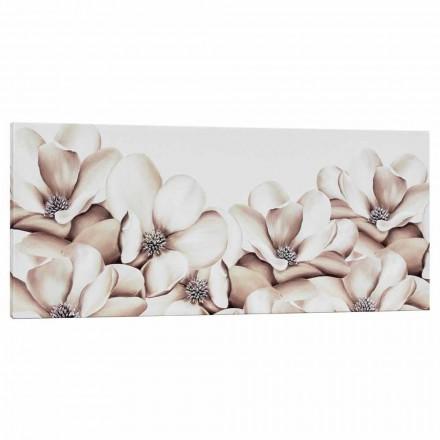 Impression sur toile florale design décorée à la main en Italie Moscal