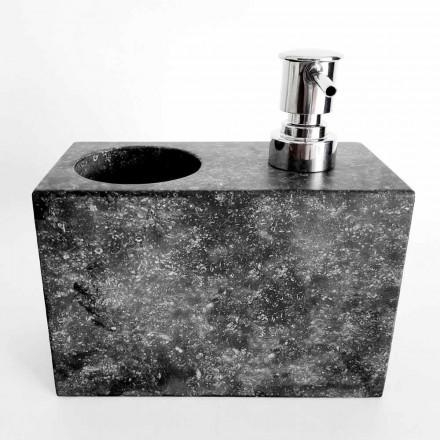 Distributeur de savon liquide avec verre marbré Fabriqué en Italie - Clik