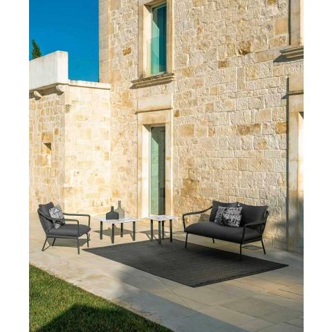 Canapé de jardin 2 places en aluminium et tissu - Cruise Alu par Talenti