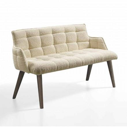 Canapé de luxe avec siège recouvert de tissu fabriqué en Italie - Clera