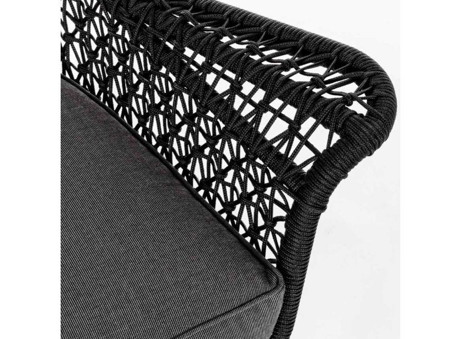 Canapé d'extérieur 2 places design en aluminium et tissu Homemotion - Nigerio
