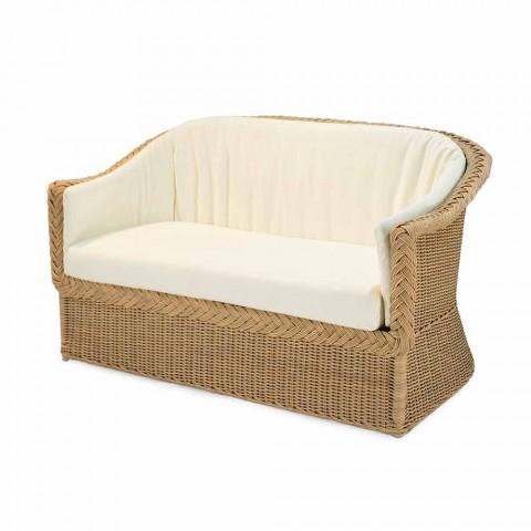 Canapé 2 places en polyéthylène jardin à la main Jonny