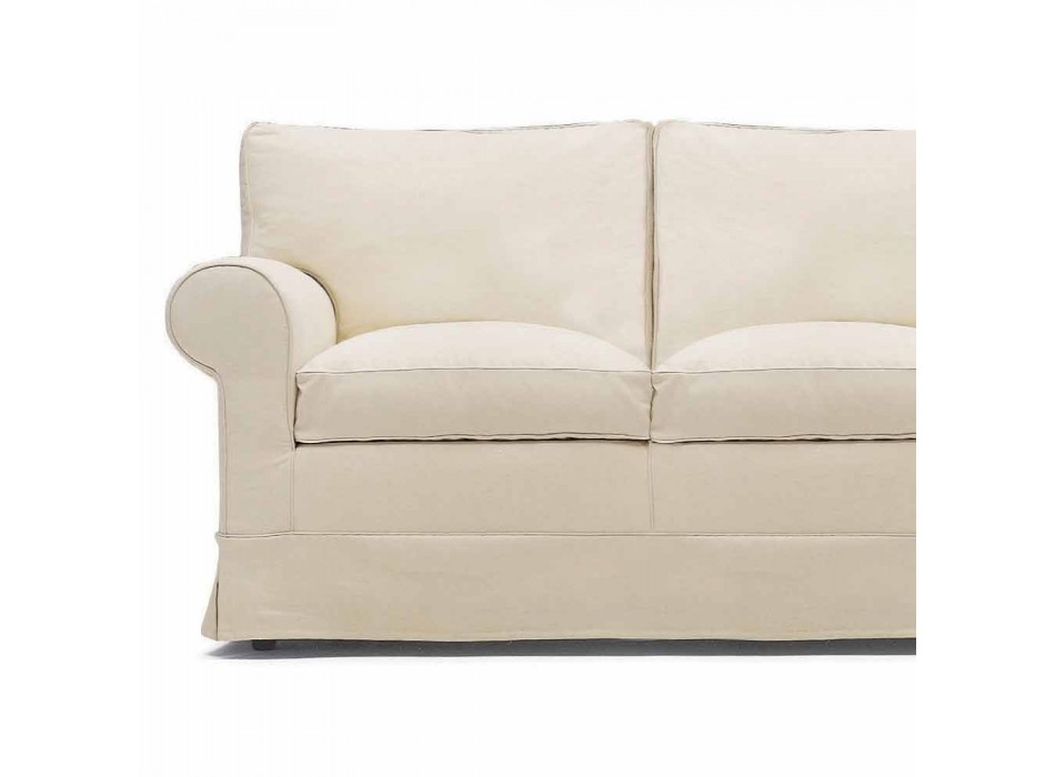 Canapé 2 places rembourré et recouvert de tissu fabriqué en Italie - Andromeda