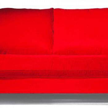 Canapé 2 places en coton avec cubes latéraux en Mdf Made in Italy - Damascus