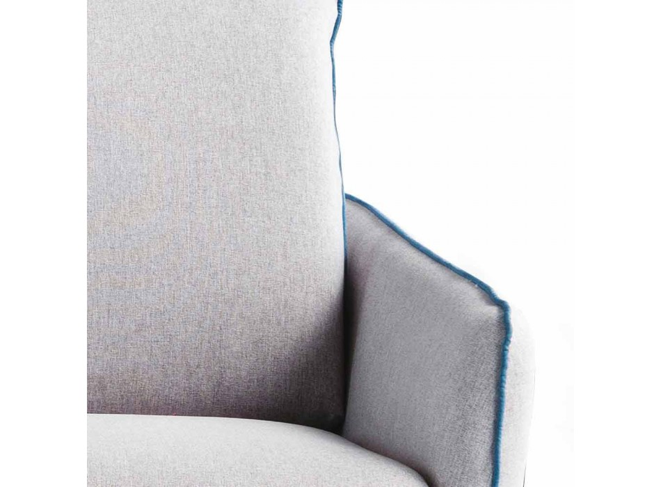2 places en simili cuir maxi L.165cm / tissu fabriqué en Italie Erica