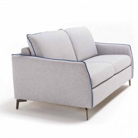 Canapé 2 places maxi L.165cm écocuir/tissu produit en Italie Erica